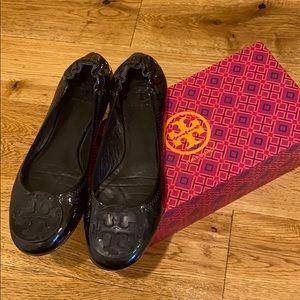 Tory Burch Reva Patent Leather Flats, 9.5